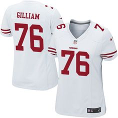 bfdf513dd448 Women s Nike San Francisco 49ers  76 Garry Gilliam Game White NFL Jersey