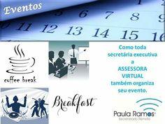 Amigos, Olá, este é post do dia...com a colaboração dos melhores parceiros que conheço, sua ASSESSORA VIRTUAL organiza seu evento de forma presencial. ACESSE http://www.paulasecretariadoremoto.com/ e SAIBA MAIS...