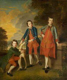 The Children of the 2nd Duke of Newcastle-under-Lyne, Henry (1750–1778), Thomas (1752–1795) and John (1755–1781)