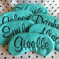 Personalized Breakfast at Tiffany's Sleep Mask Party Favors Custom Bachelorette Party Sweet 16 Slumber Party by TheSleepyCottage on Etsy https://www.etsy.com/listing/207729057/personalized-breakfast-at-tiffanys-sleep                                                                                                                                                                                 More