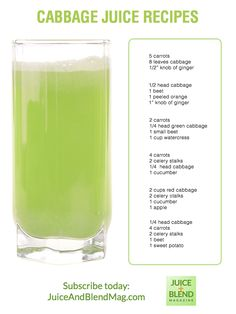 Healthy Cabbage Juice Recipes from Juice + Blend Magazine