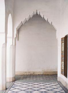 moorish white arch.