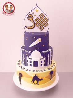 Live your Dreams instead of Dreaming your Life ! by Un Jeu d'Enfant - Cake Design Creative Birthday Cakes, Creative Cakes, Gorgeous Cakes, Amazing Cakes, Ramadan Sweets, Heart Birthday Cake, Silhouette Cake, Fake Cake, Specialty Cakes