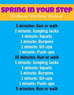 Spring in Your Step workout