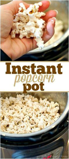 Instant Pot popcorn tastes so good and is ready in just 5 minutes!! Easy to do and tastes WAY better than microwave popcorn. Here's the easy recipe. via @thetypicalmom