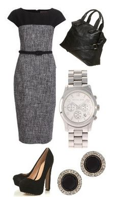 I really like this dress and it could be paired with a simple blazer too.