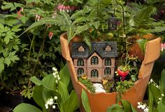 Do Fairies have a place in your yard?  Build it and they will come! #FairyGarden