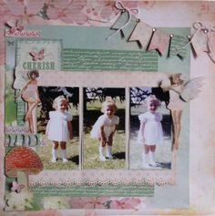 Kaisercraft User Gallery - Fairy in the Garden - Powered by PhotoPost Scrapbooking Layouts, Scrapbook Pages, Sketch 4, Multi Photo, Paper Crafts, Diy Crafts, Pocket Letters, Enchanted Garden, Photo Layouts