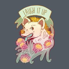 Check out my awesome art tattoo style 'Laughing hyena v.1' design on TeePublic! http://tee.pub/lic/dT0eOQxUR0M