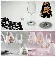 DIY Wine Glass Candle Lamp