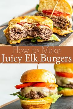 How to Make Juicy Elk Burgers so that the patties are flavorful and delicious. You only need a simple seasoning blend to Elk Meat Recipes, Deer Recipes, Burger Recipes, Real Food Recipes, Cooking Recipes, Healthy Recipes, Best Elk Burger Recipe, Sausage Recipes, Game Recipes