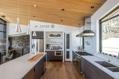 My Houzz : Mad River Chalet - Contemporary - Kitchen - Toronto - by Andrew Snow Photography