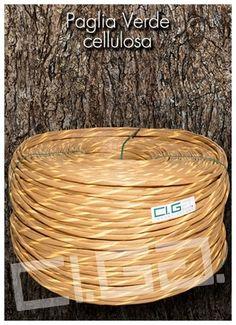Paglia verde cellulosa - Ci.Ga. Import / Export s.r.l. importa e commercializza materie prime di alta qualità: tessuto di vienna, trafilato di giunco, canne di bamboo, radici, cresh, salice, midollino di giunco, manao,malacca, manila, vimini, erba palustre, cordoncino cinese e filati in carta cellulosa di ogni genere.