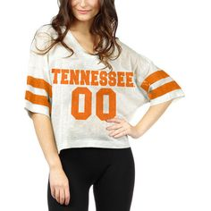 Women's chicka-d White Tennessee Volunteers Sparkle Jersey T-Shirt ($35) ❤ liked on Polyvore featuring tops, t-shirts, silver, silver top, jersey top, white jersey, white tees and white tops