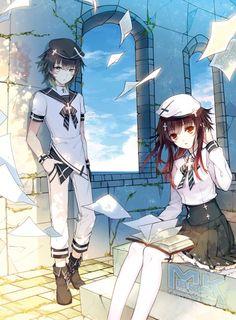 Anime girl and boy images Lolis Anime, Anime Amor, Anime Chibi, Kawaii Anime, Anime Love Couple, Cute Anime Couples, Anime Siblings, Anime Angel Girl, Anime Family