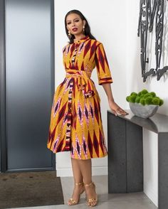 "The best ankara dress styles are absolutely top notch.African fashion with its ankara styles and lace styles popularly known as as ""asoebi"" are here to stay. Latest Ankara Short Gown, Ankara Short Gown Styles, Trendy Ankara Styles, Short Gowns, Ankara Gowns, African Print Dresses, African Print Fashion, Africa Fashion, African Fashion Dresses"