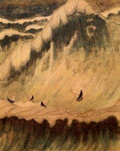Mikalojus Konstantinas Čiurlionis (Lithuanian, 1875-1911),Sonata of the sea. finale, 1908. Tempera on paper.