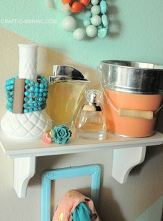 DIY Painted Geometric Accessory Wall