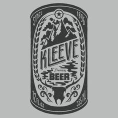 http://images.cdn.bigcartel.com/bigcartel/product_images/48623341/max_h-1000+max_w-1000/vintagebeer_art.gif, Kleeve, Beer Can, Deer, Skull, MOuntains, Illustration, Graphic Design