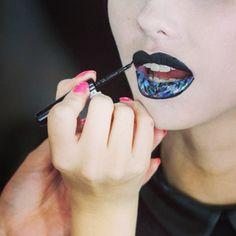 Creating lip art by Karla Powell