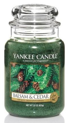 Yankee Candle Large 22-Ounce Jar Candle, Balsam & Cedar #candles #gifts $31.99
