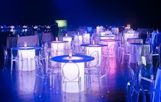 LED tables make for a great source of light, a focal point, and unique event decor! Event Management Company, Event Company, Las Vegas Events, Event Services, Corporate Events, Event Decor, Event Design, Event Planning, Chicago