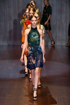 JUST IN: See all the looks from the @gucci spring/summer 15 collection at #MFW http://uk.bazaar.com/1qYe1N6