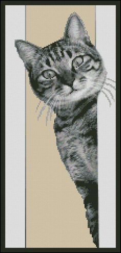 """""""Have You Seen My Catnip ?"""" - Counted Needle Point (26 Anchor R Colors) and a Counted Cross Stitch (28 DMC) Chart Patterns by Paula Howard Patterns. Offered at www.etsy.com/listing/199027720."""