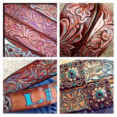 LOVE!!! Custom Painted Bling Cowgirl Belt with by CowgirlsAreForever, $50.00