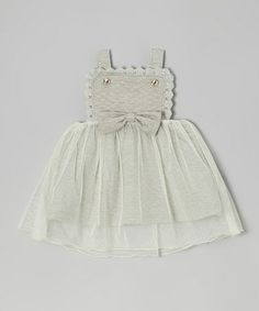 Take a look at this Gray Quilted Apron Dress - Infant, Toddler & Girls by Blossom Couture on #zulily today!