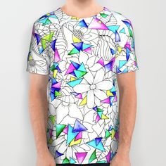 Buy Modern watercolor geometric triangles floral illustration All Over Print Shirt by Girly Trend. Worldwide shipping available at Society6.com. Just one of millions of high quality products available.