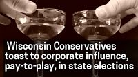 #Media #Oligarchs #MegaBanks vs #Union #Occupy #BLM  Wisconsin conservatives toast to unlimited, secretive corporate influence and pay-to-play in our elections   http://political-heat.blogspot.com/2016/10/wisconsin-conservatives-toast-to.html   I predicted that the Supreme Court of the United States would hear arguments in favor of allowing the John Doe investigation in Wisconsin to continue. Today, it was revealed that the Court won't hear those arguments after all.  I was wrong in my g