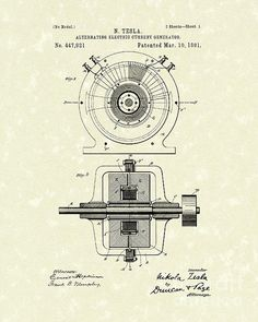 Tesla Patent Prints Set Of Tesla Invention Patent Art Set, Tesla Electric Motor, Science Student Gift, Science Decor N Tesla, Tesla Coil, Tesla Power, Tesla Motors, Tesla Electric Motor, Electric Power, Electric Cars, Nikola Tesla Patents, Tesla Generator