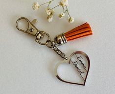 Personalized Heart Keychain with Names Custom Laser Cut Double Name Keyrings, Opening An Etsy Shop, Best Wedding Gifts, Name Gifts, Personalized Favors, Birthday Gifts For Women, Heart For Kids, Felt Hearts, Customized Gifts