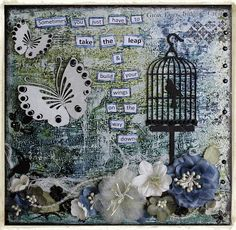 Michellejbg: Take the Leap ~ Dusty Attic ~ Canvas & Textured Modelling Paste Background Tutorial