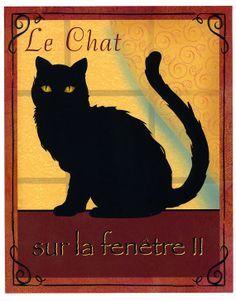 Black Cat Art graphic, Le Chat 2