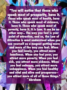 The Law of Attraction - feel healthy, vital, alive & prosperous