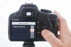 Canon DSLR Tips partial metering