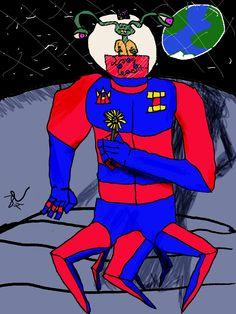 Charlie the Goran Original Artwork, Spiderman, Deep, Superhero, Fictional Characters, Spider Man, Fantasy Characters, Amazing Spiderman
