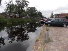 Along the Canal in Heerenveen in the Netherlands