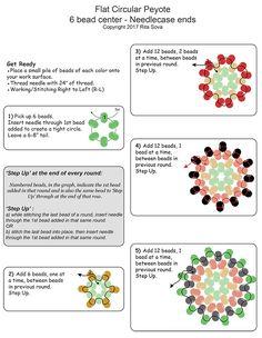 Flat Circular Peyote Needlecase End Instructions | Bead-Patterns