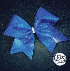 Cheer Bow, Blue Cheer Bow, Hair Bow