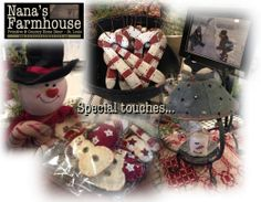 Nana's Farmhouse We specialize hand-mades, one-of-a-kind finds mixed with reproductions, metals with wood & the most beautiful country & vintage merchandise Primitive Country Homes, Country Kitchen Farmhouse, Farmhouse Style, Vintage Country, Country Decor, Christmas Home, Christmas Bulbs, Country Curtains, Home Decor Store