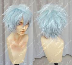 Gintama Sakata Gintoki Gradient Colour Cosplay Wig_Lucaille WIG