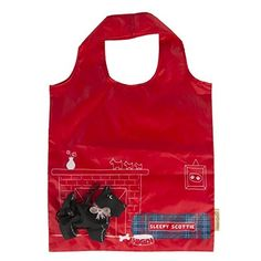 Be an eco warrior with this reusable and foldable Scottie Dog Foldable Shopping Bag! It is stored in a little black case which is the shape of the dog with a little handy clip atta