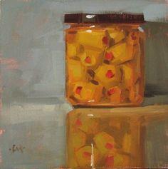 """Martini Olives, on the mend  and  studio update - SOLD"" - Original Fine Art for Sale - © Carol Marine"
