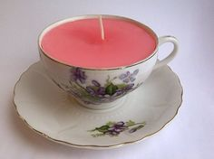 Maybe THIS is what we should do with our vintage teacups! teacup candles
