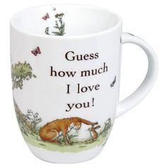 Konitz 'Guess how much I love you!' Giftboxed Mugs (Set of 4) (Mugs), Multi (Porcelain, Animal)