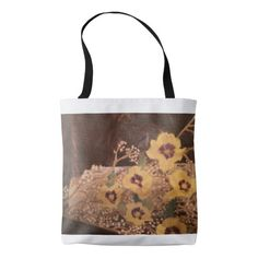 Tote Bag Flowers aside a Log Sarr