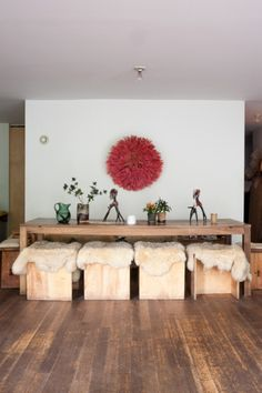dining table + stools // Maria Cornejo + Mark Borthwick